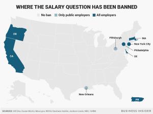 ApplicantStack - Salary Question Ban Map