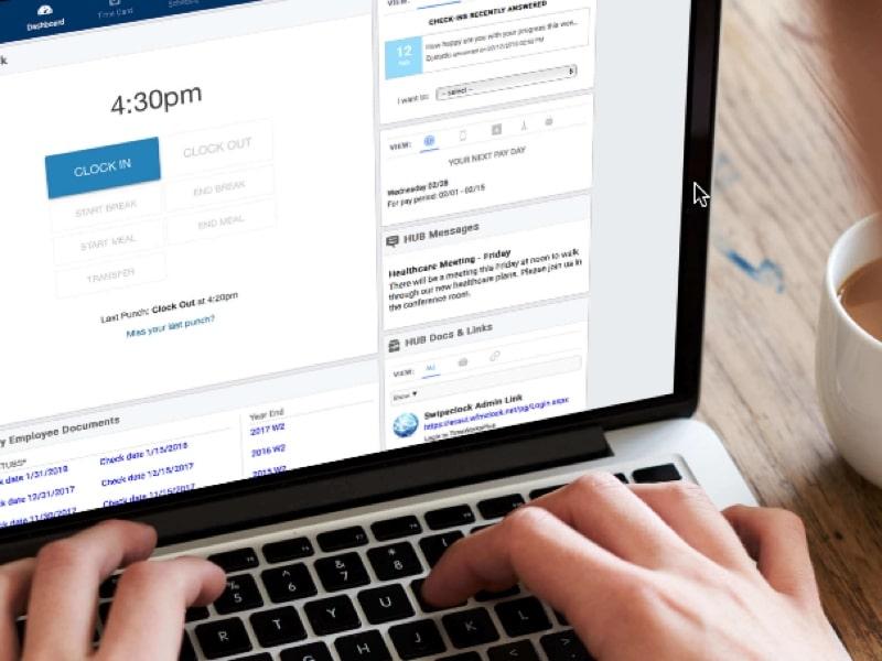 SwipeClock HR portals