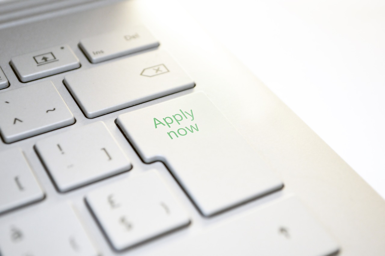 laptop enter button replaced with apply now button