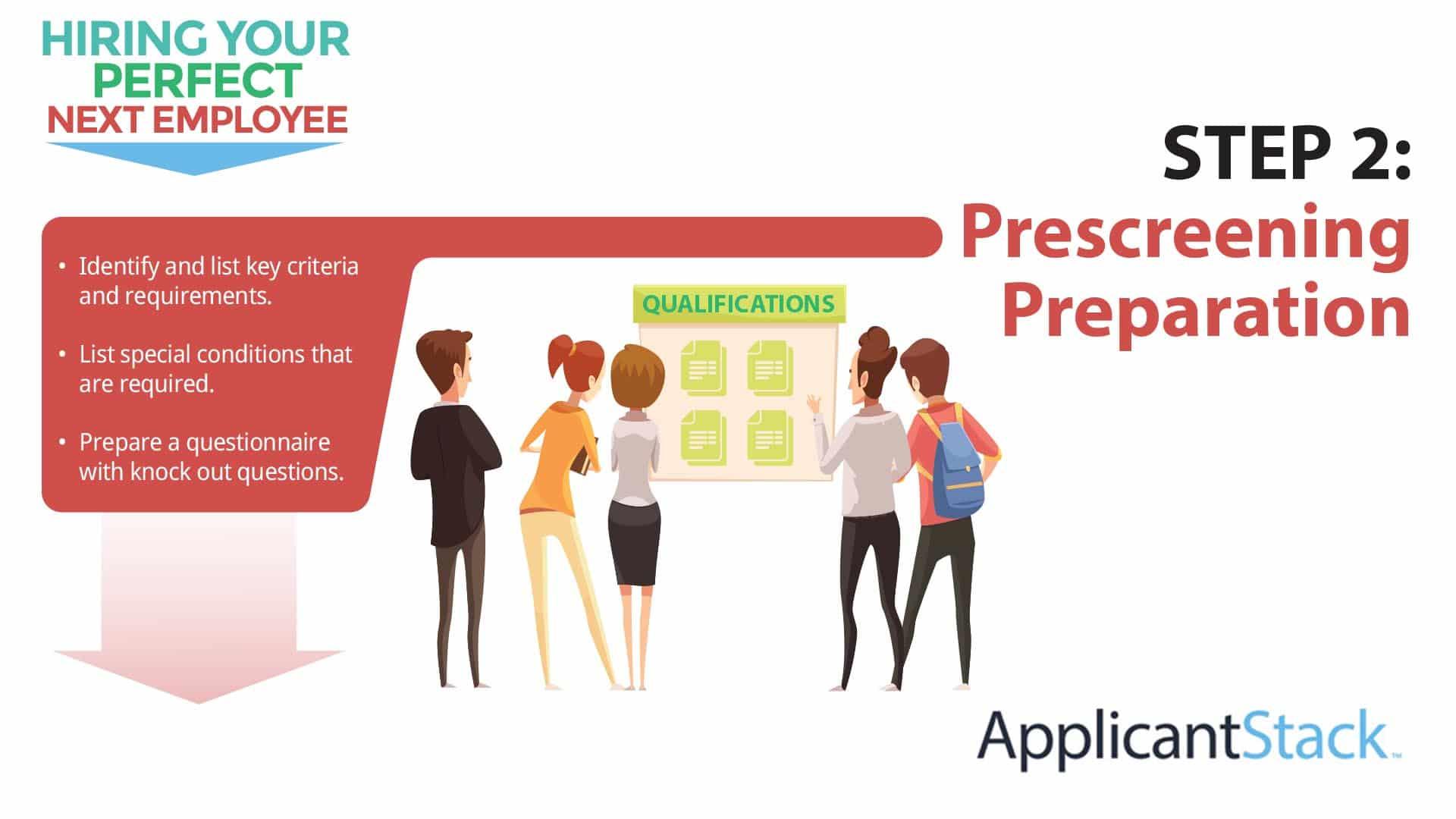 Prescreening Preparation