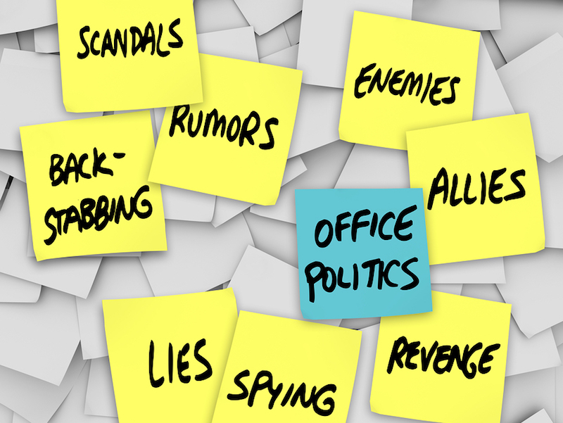 Human Resources can manage office politics