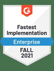 WorkforceHub G2 Fastest Implementation Award