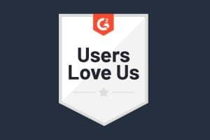 G2 Users Love Us Award